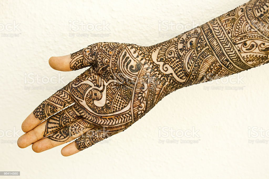 Hand with Heena royalty-free stock photo