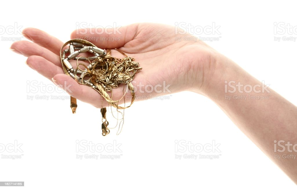 hand with jewelry stock photo
