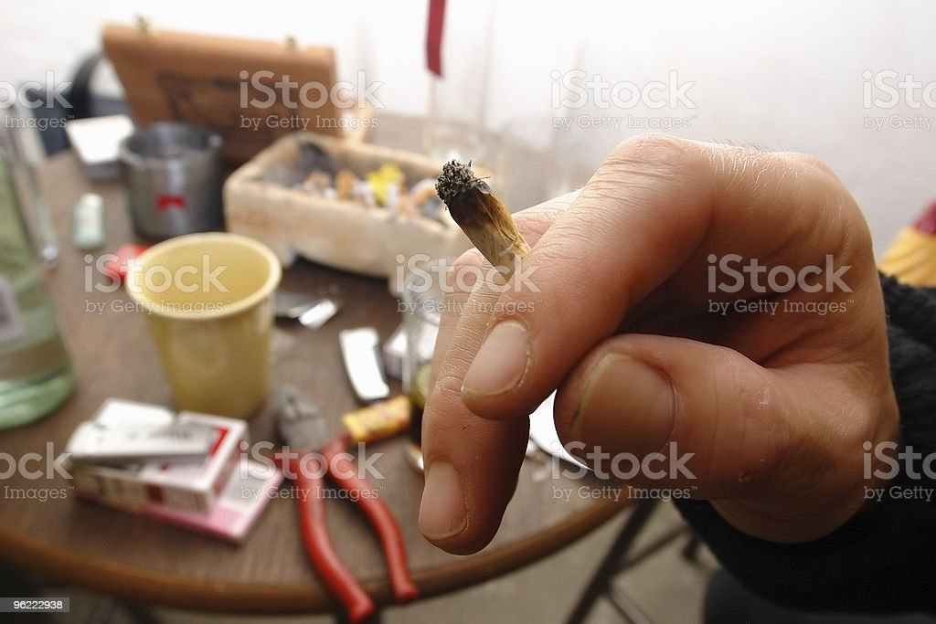 Hand with joint stock photo