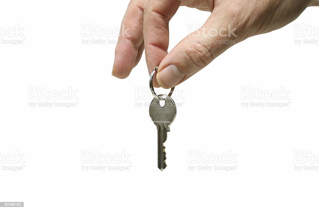 hand with key royalty-free stock photo