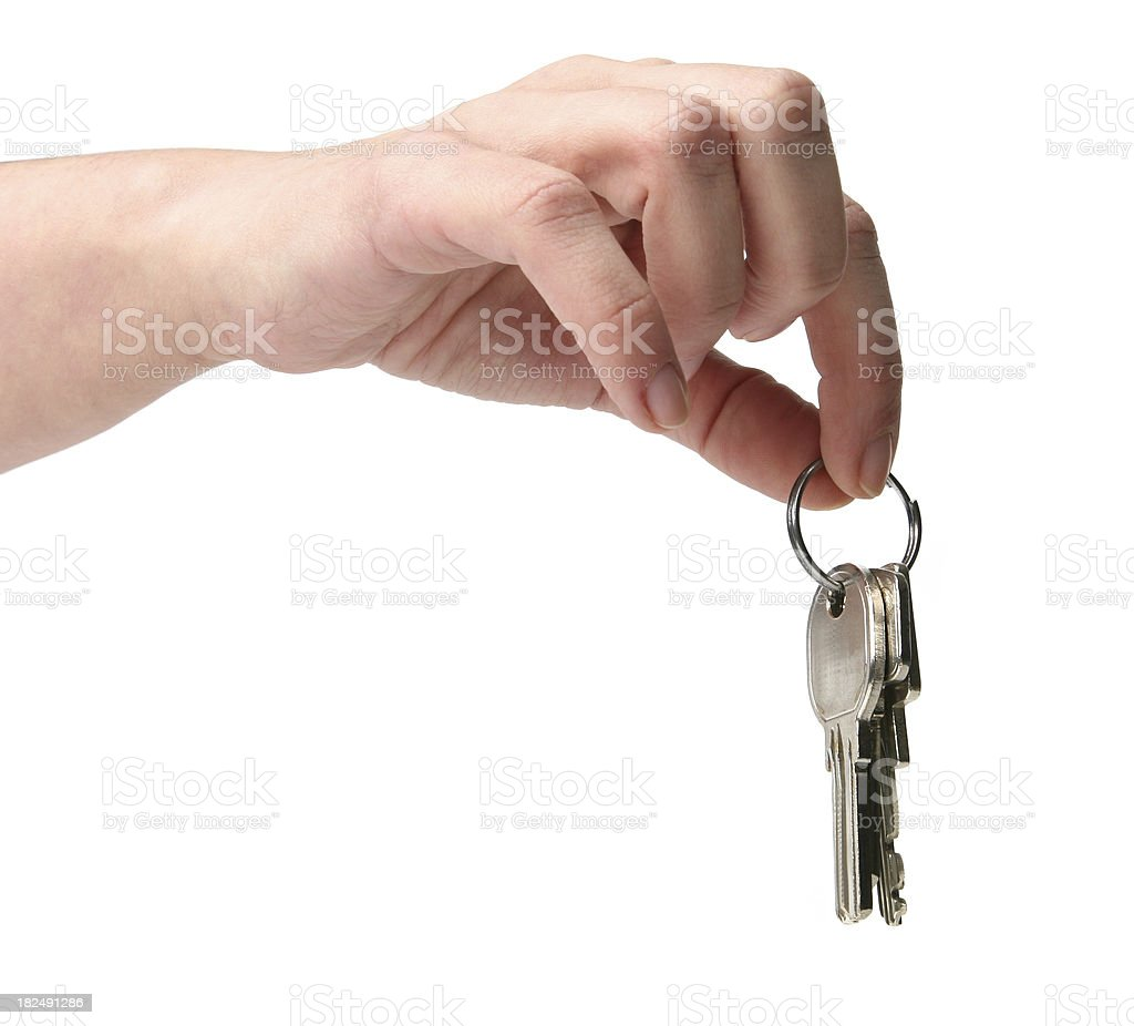 Hand with keys royalty-free stock photo