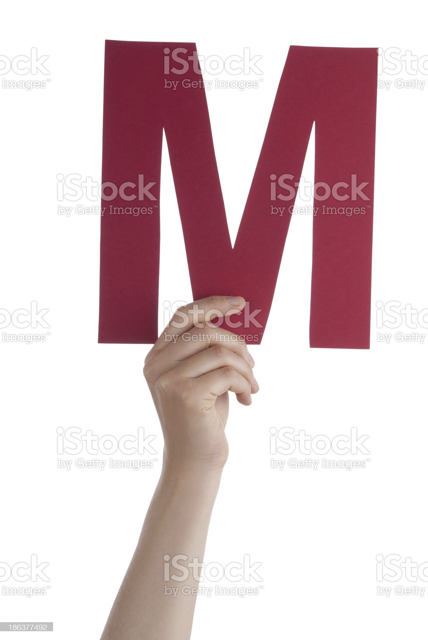 Hand With M royalty-free stock photo
