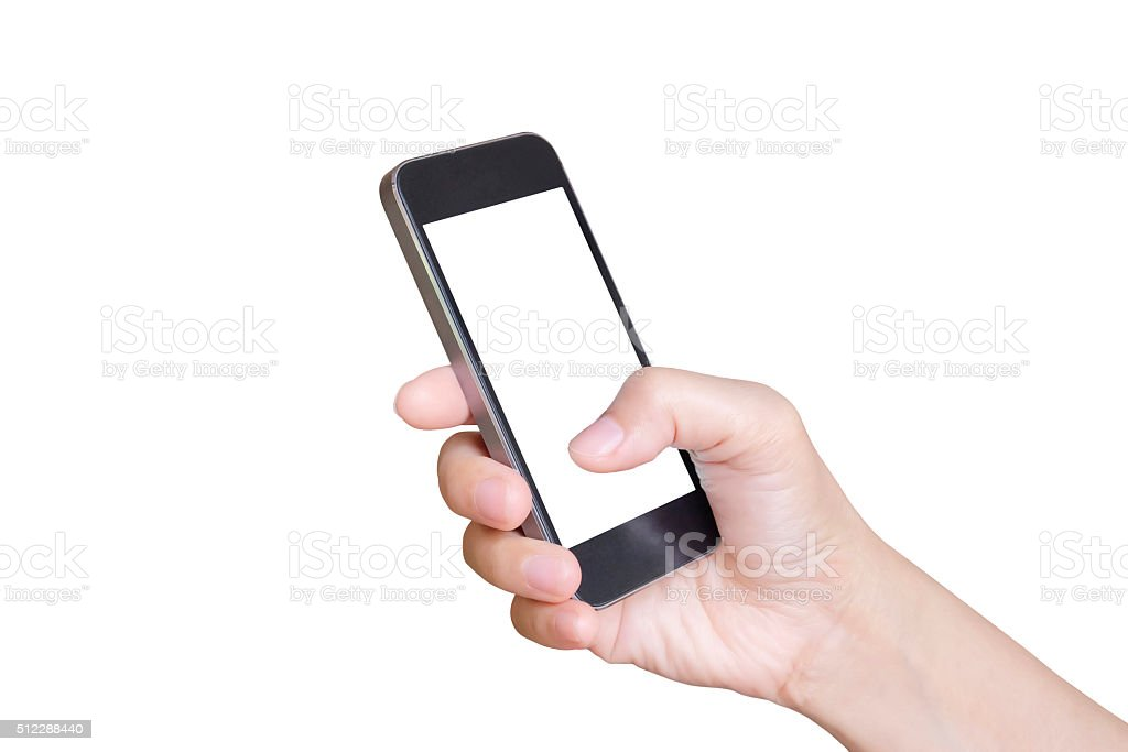 Mano teléfono móvil inteligente con foto de stock libre de derechos