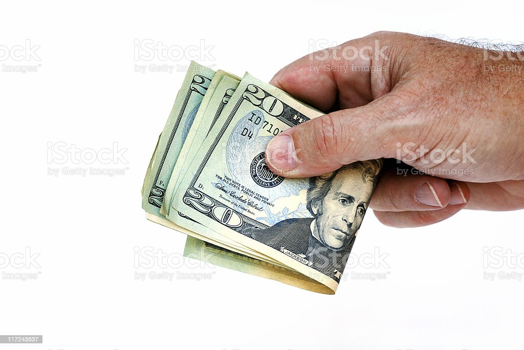 Hand with money royalty-free stock photo