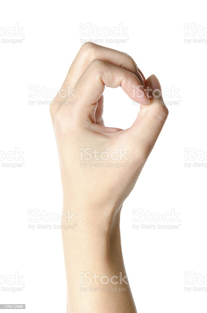 hand with number zero stock photo