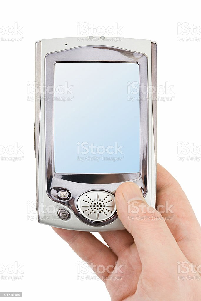 Hand with PDA royalty-free stock photo