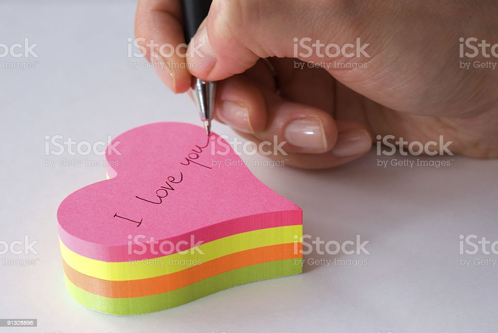 Hand with pen royalty-free stock photo