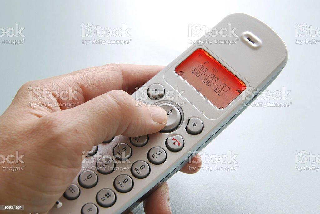 hand with phone stock photo