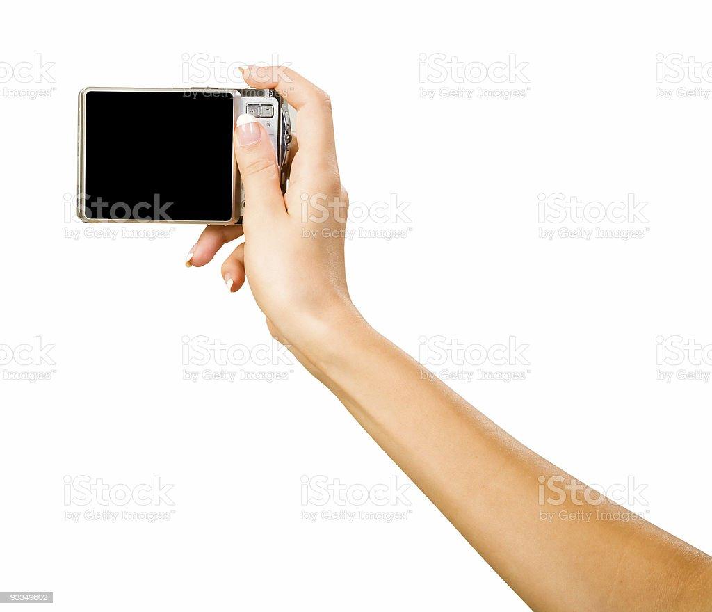 hand with photo camera royalty-free stock photo