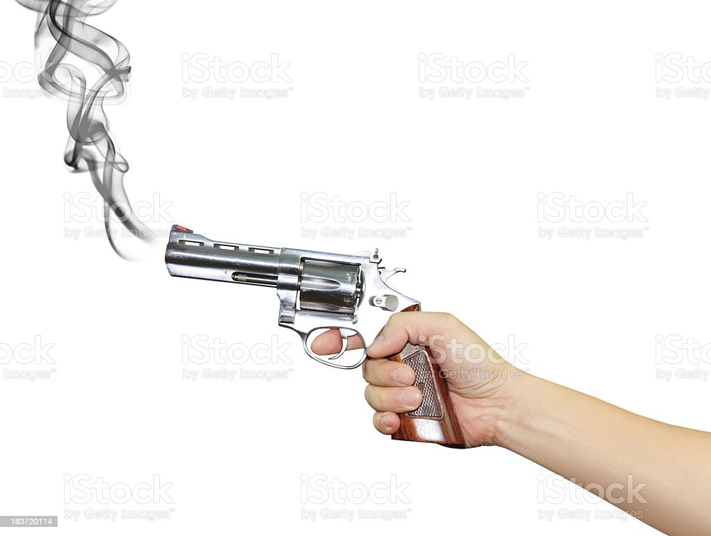 Hand with pistol royalty-free stock photo