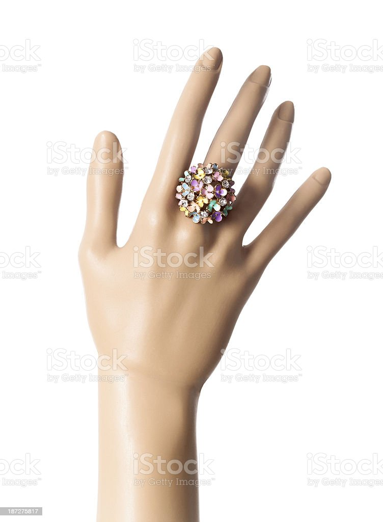 Hand With Ring royalty-free stock photo