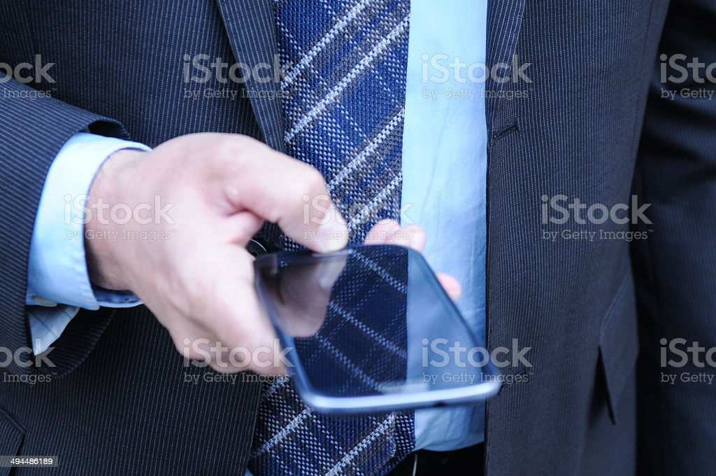 Hand with Smartphone stock photo