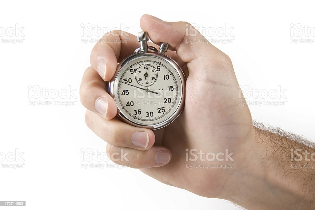 Hand with stopwatch royalty-free stock photo