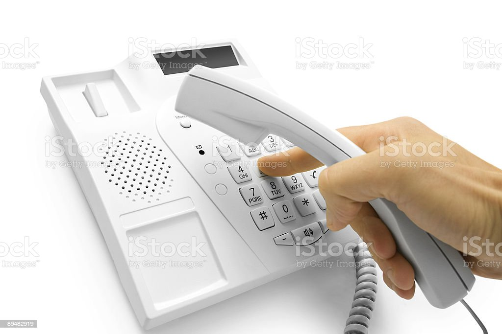 hand with telephone royalty-free stock photo