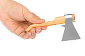Hand with toy axe