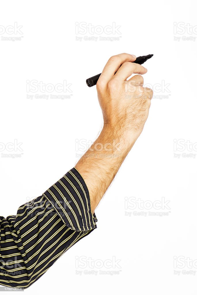 Hand With Whiteboard Marker royalty-free stock photo