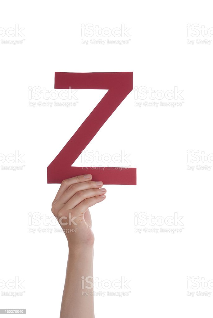 Hand With Z royalty-free stock photo