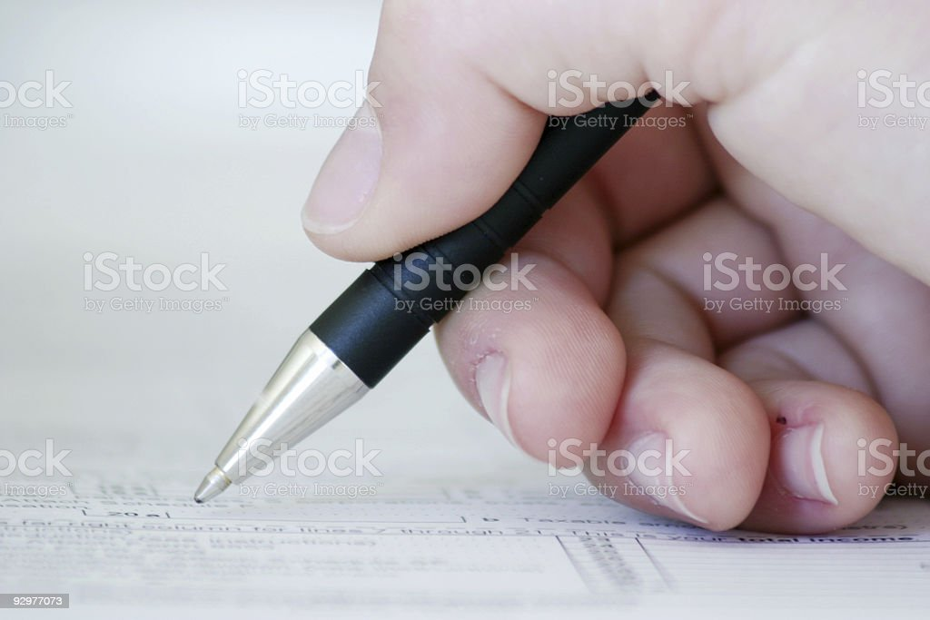 Hand Writign royalty-free stock photo