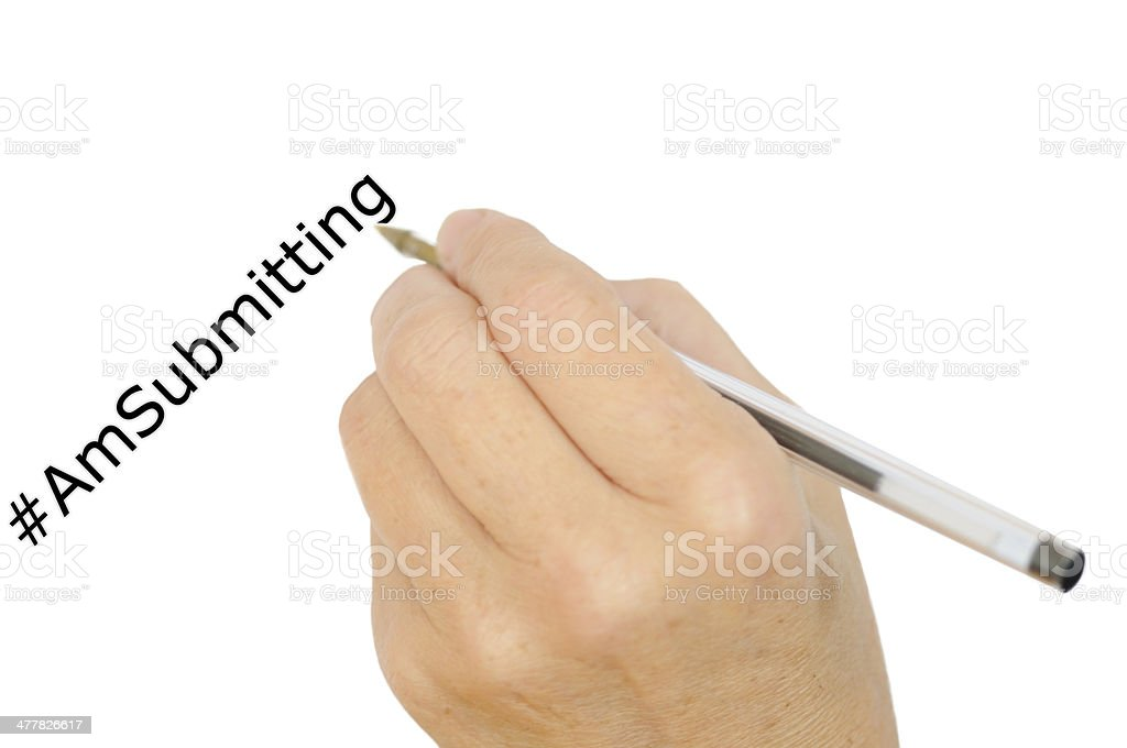 Hand writing, author concept royalty-free stock photo