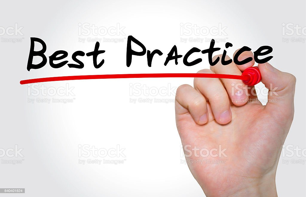 Hand writing Best Practice with marker, Business concept stock photo