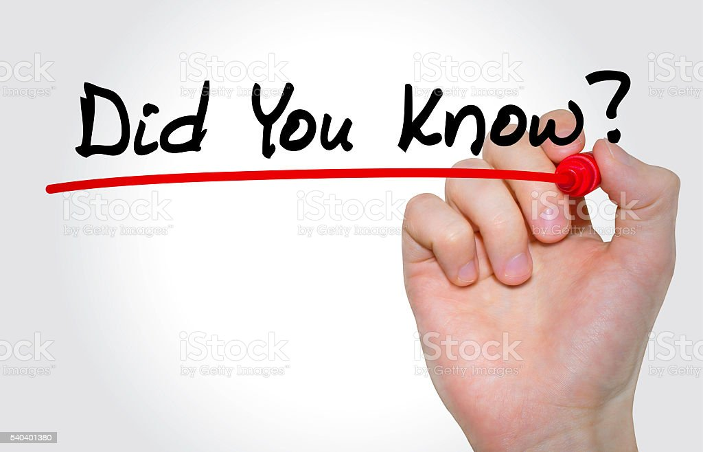Hand writing Did You Know? with marker, Education concept stock photo