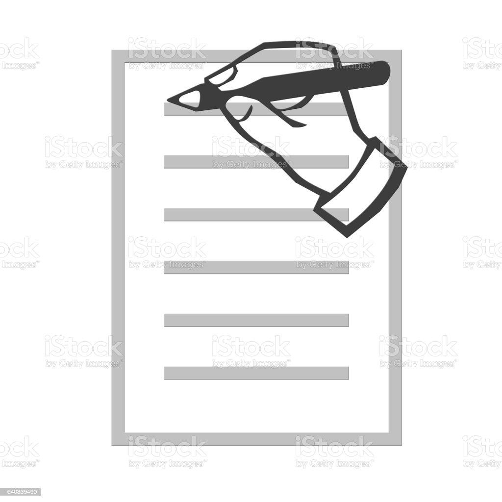 Hand writing illustration stock photo