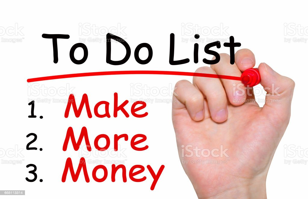 Hand writing inscription To Do List with marker, concept stock photo
