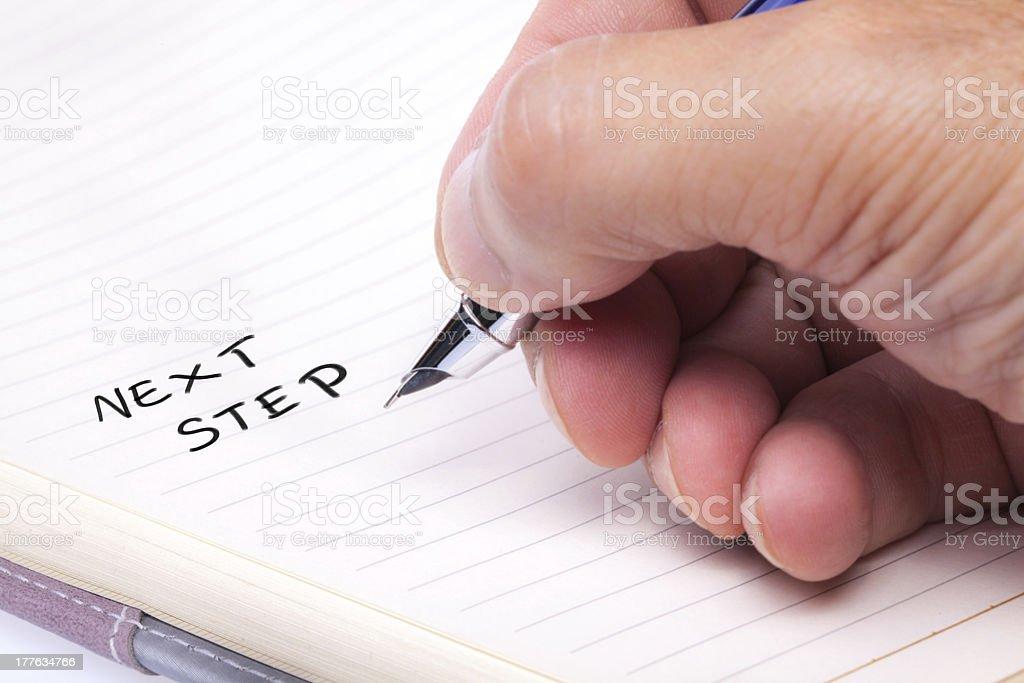 Hand Writing royalty-free stock photo