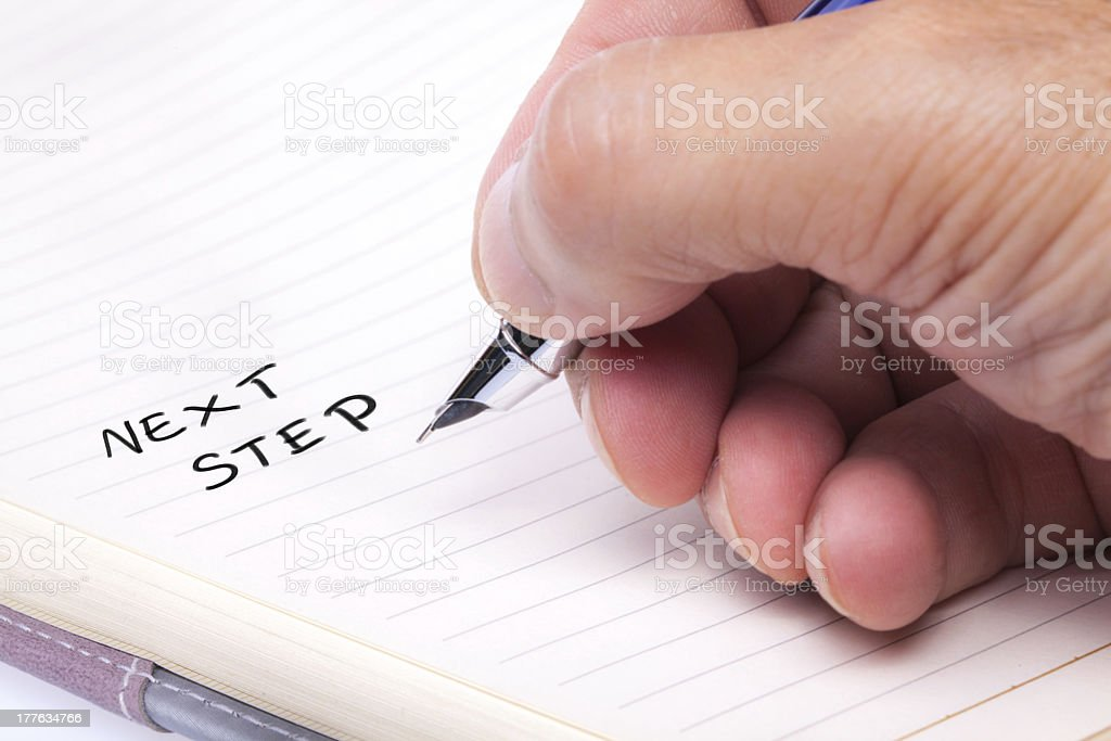 Hand Writing stock photo