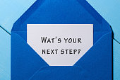 Hand writing text What is Your Next Step in letter