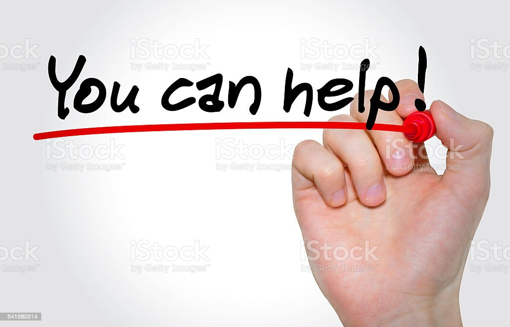 Hand writing You can Help! with marker, Business concept stock photo