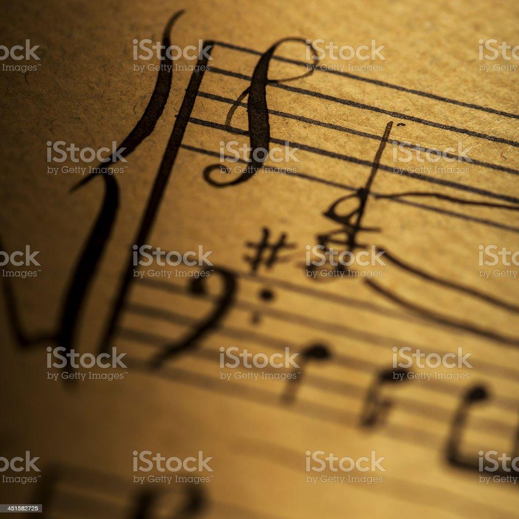 Hand written music clef stock photo