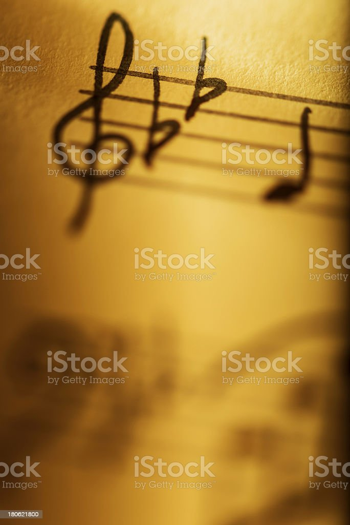 Hand written musical composition stock photo
