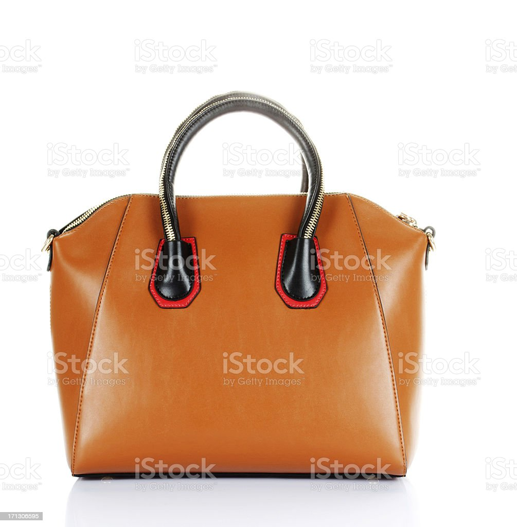 handbag isolated stock photo