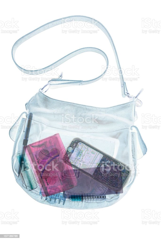 Handbag X-Ray stock photo