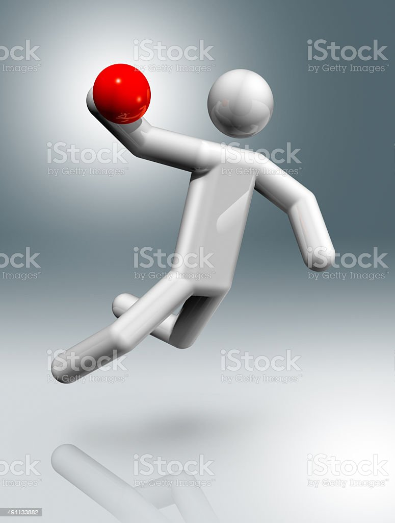 Handball 3D symbol stock photo
