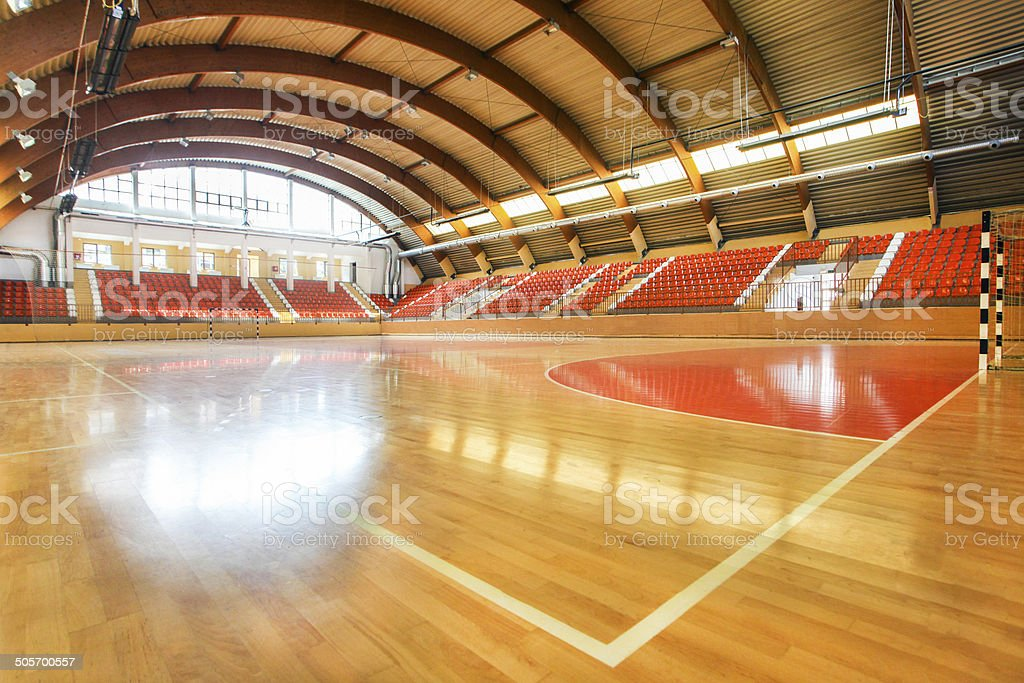 Handball court stock photo