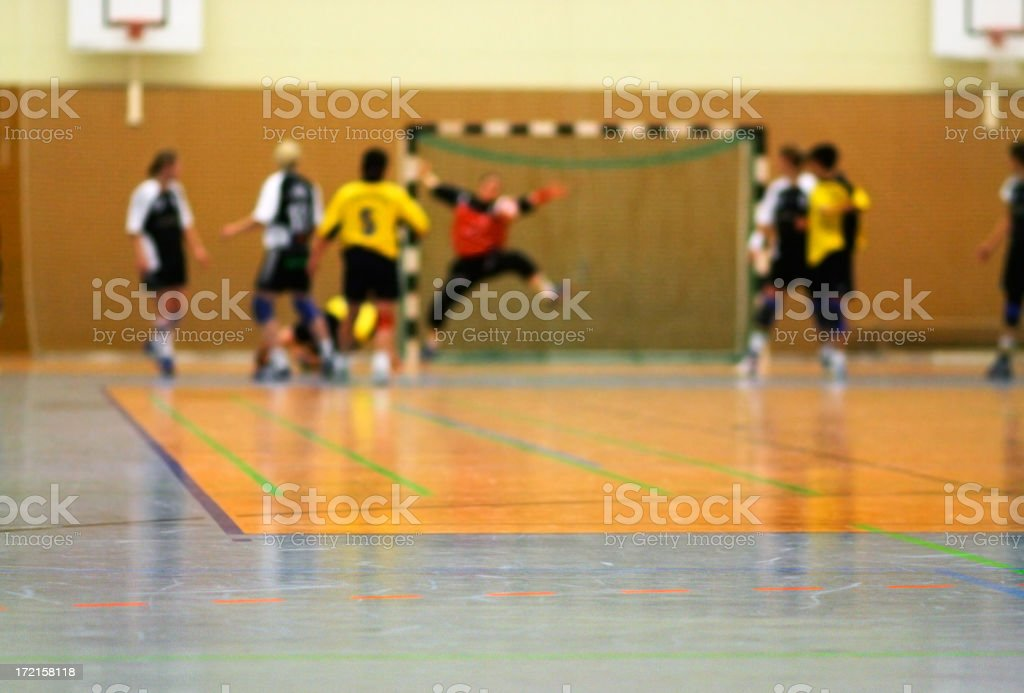 handball defence stock photo