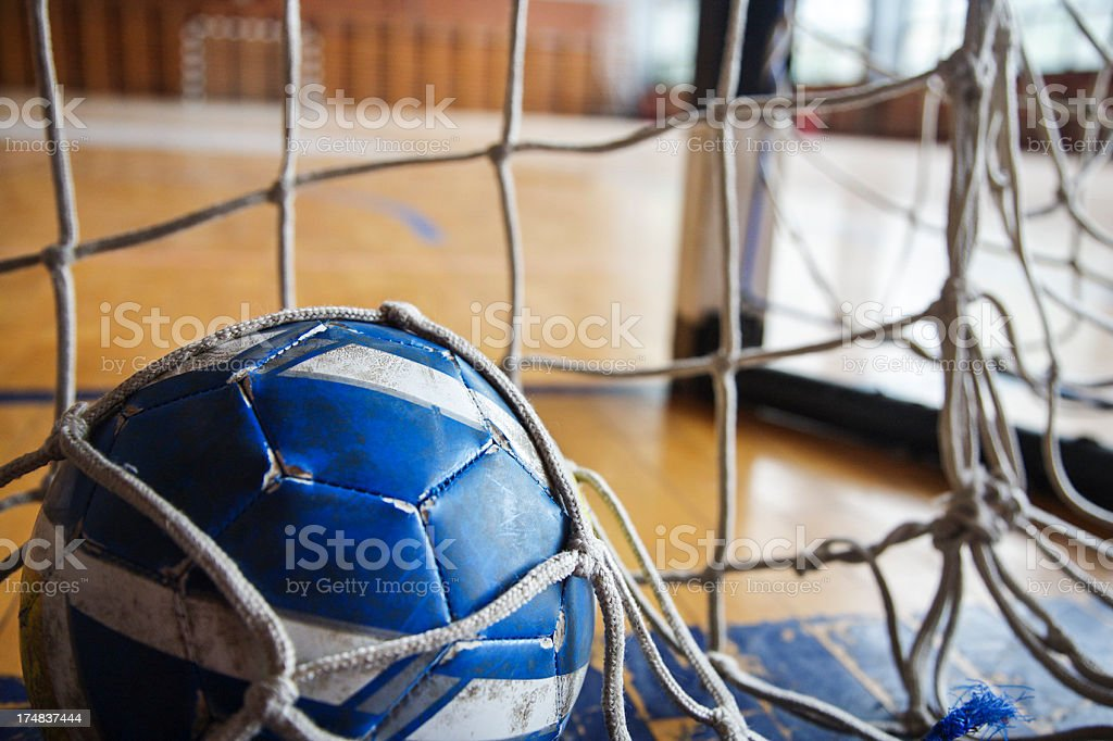 Handball goal stock photo