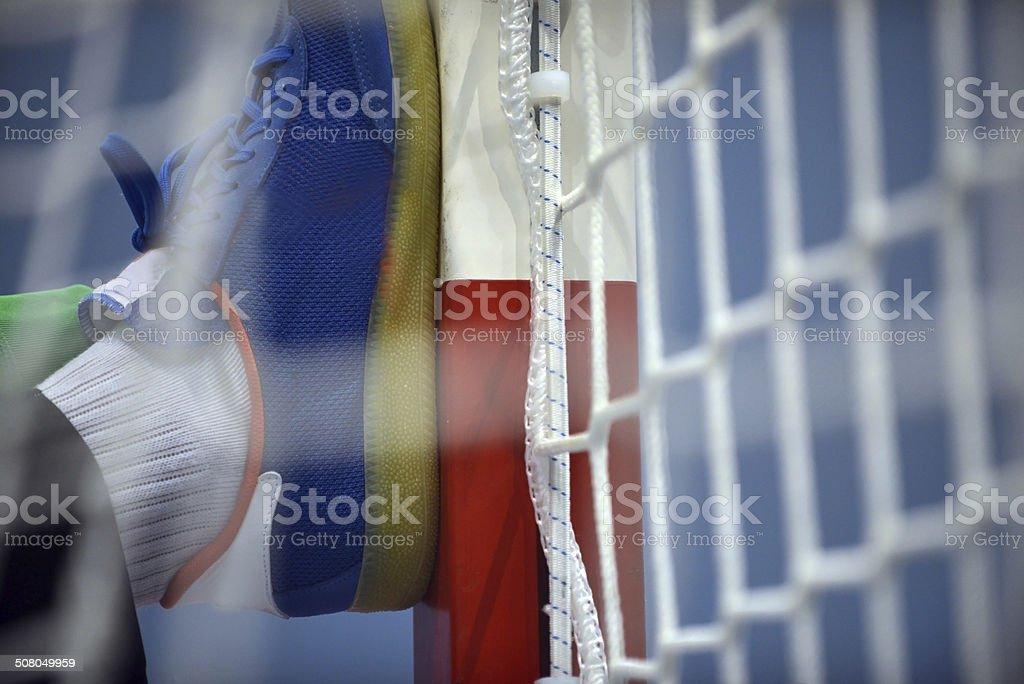 Handball - Goalpost - Goalkeeper stock photo
