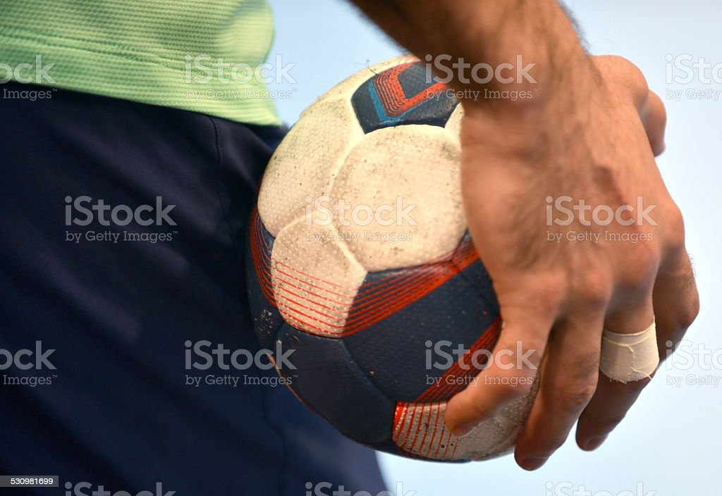 Handball - Handballplayer stock photo