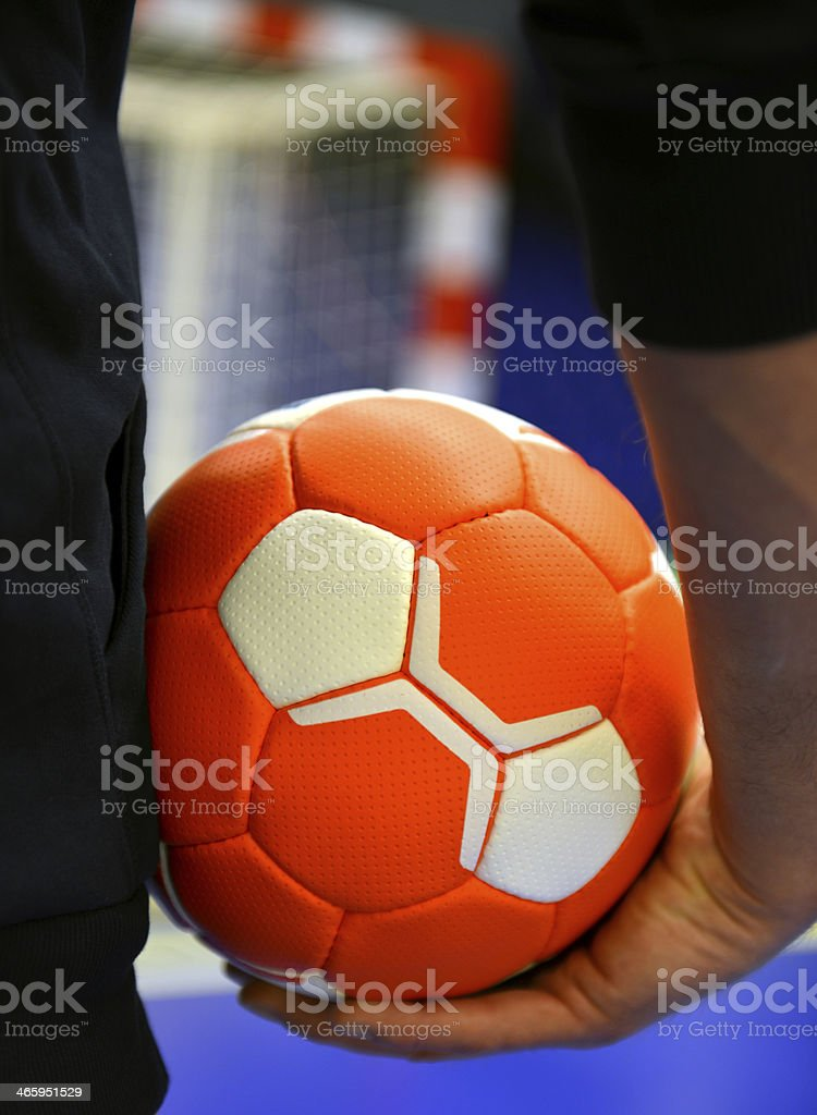 Handball Player - Handball - Goal stock photo