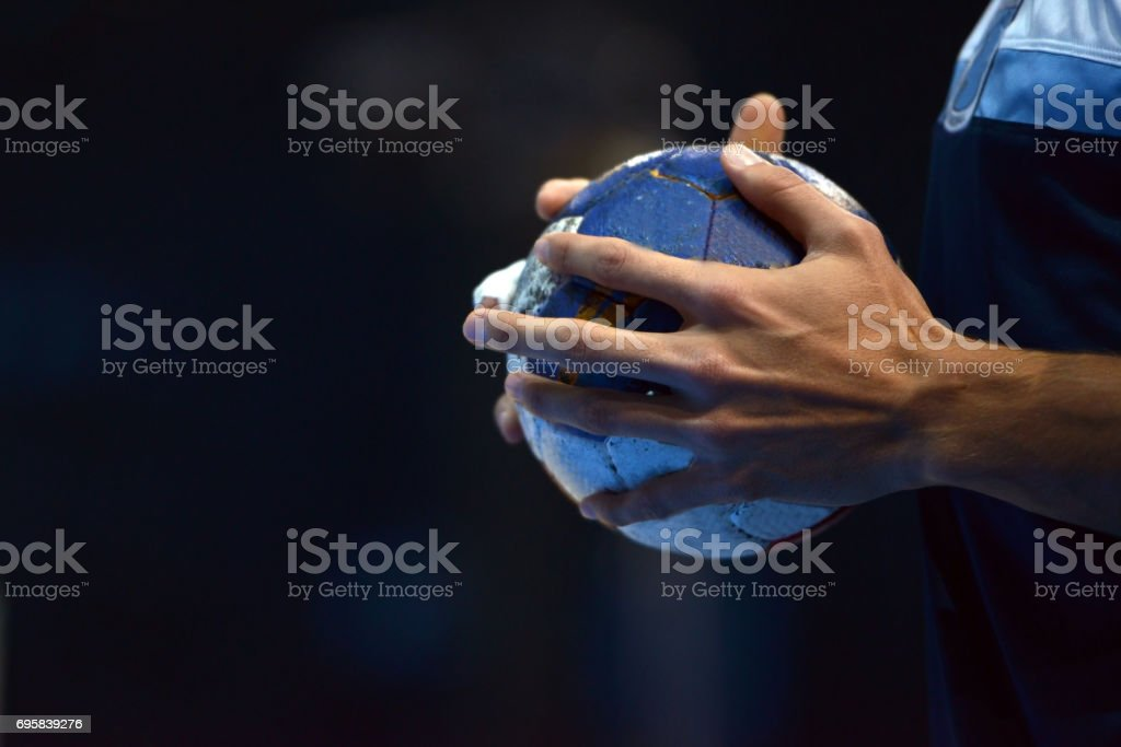 Handball Player stock photo