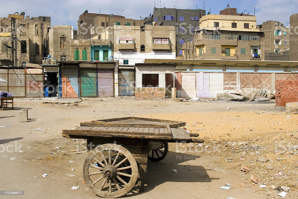 Handcart in the backstreets of Cairo stock photo