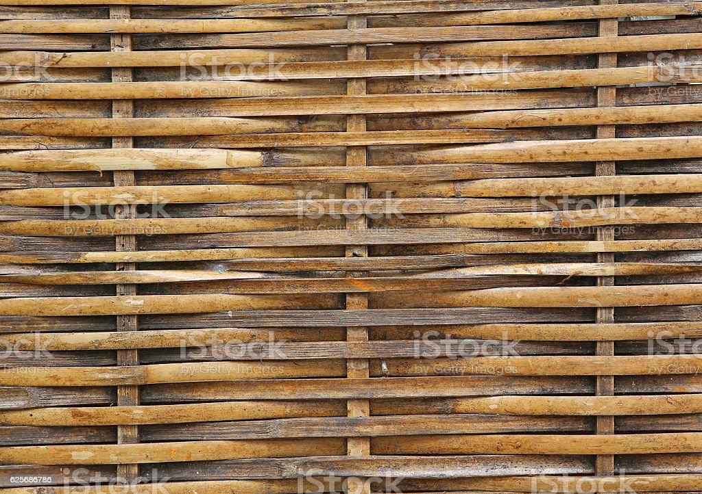 Handcraft bamboo weave texture. stock photo