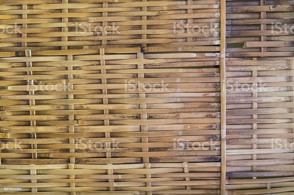 handcraft thatched bamboo texture background stock photo