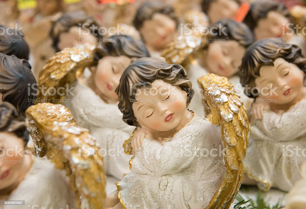 Handcrafted Christmas Angels stock photo