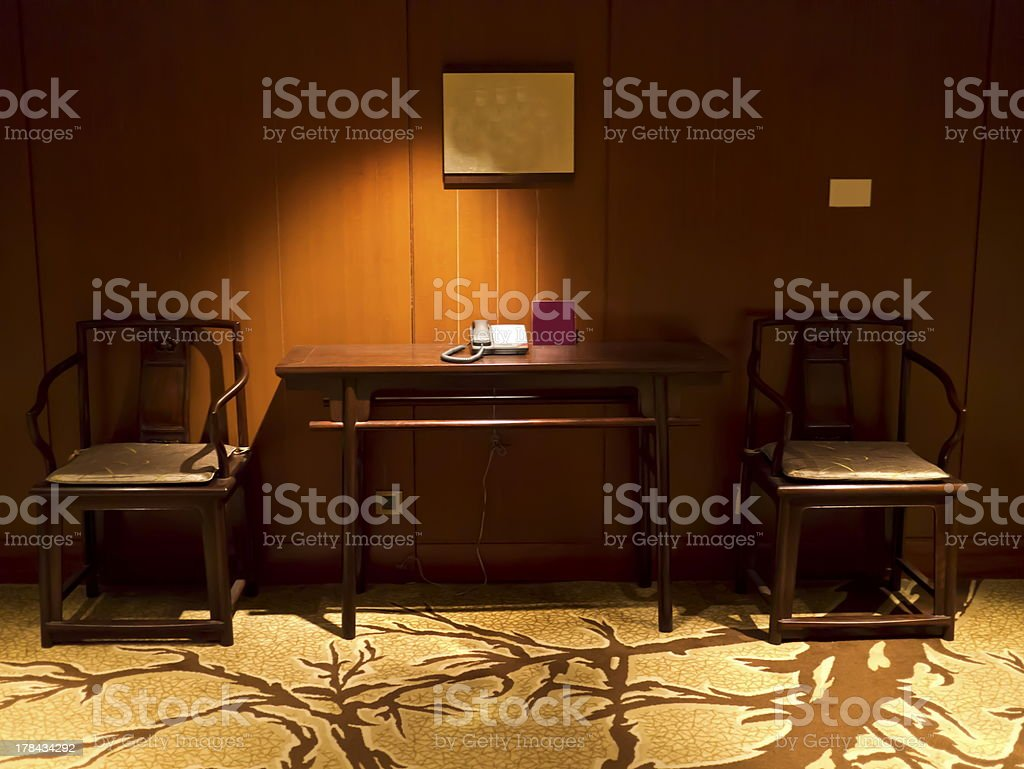 Handcrafted furniture royalty-free stock photo