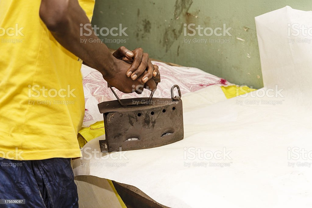 Handcrafted ironing stock photo