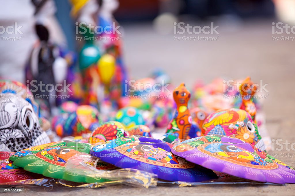 Handcrafted souvenirs stock photo